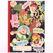 black toy story characters notebook exercise book japan