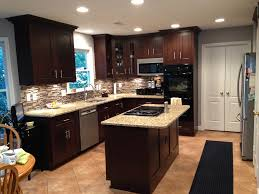 kitchen paint colors with dark cabinets color best wall oak for