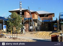 two storey house new two storey house being built in the suburbs of perth western
