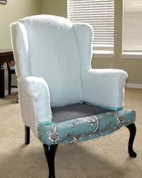 reupholster wingback chair blue how to reupholster wingback