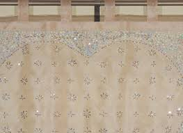 embroidered sheer curtain panel tan beaded indian window