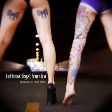 tattoos legs females coffeetable book home