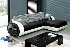 black u0026 white leatherette stylish modern sectional sofa