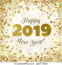 Happy new year 2019 greeting banner festive background with