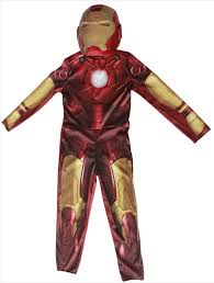 Iron Man Halloween Costume 1set Children Cosplay Supplies Iron Man Costume Mask Stretchy