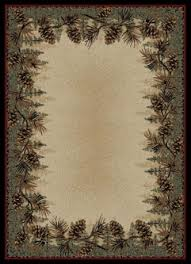 Pine Cone Area Rugs Pinecone Rustic Cabin And Lodge Area Rugs Cabin Place