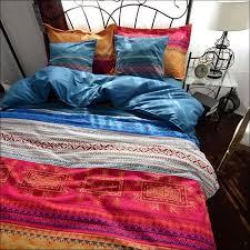 bedroom fabulous boho medallion bedding black and white bed