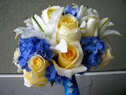 Blue Wedding Bouquets Floralshowers Pale Yellow U0026 Blue Wedding Flowers