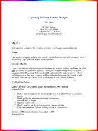 sle format of resume sle resume sle quantity surveyor for civil ideas land sles