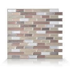 Smart Tiles Pack  X  Muretto Durango PeelandStick Vinyl - Vinyl backsplash tiles