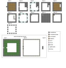 blueprint good minecraft house blueprints simple floor plans