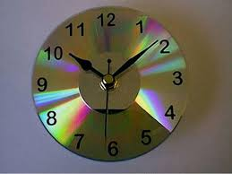 recycled cd clock buy clock mechanism attach numbers and mount