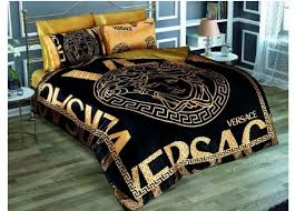 versace bed versace black gold medusa satin bed set queen size ebay