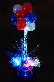 american flag theme balloon column balloon creations pinterest