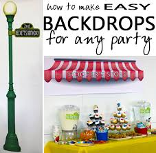 party backdrops entertaining with style easy diy party backdrops blue i style