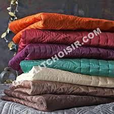 plaid jeté de canapé lit tertio plaid jeté de lit couvre lit taffetas matelassé