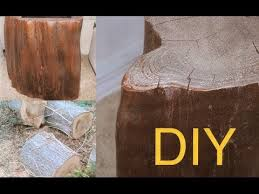 diy how to make a tree wood table for free tutorial