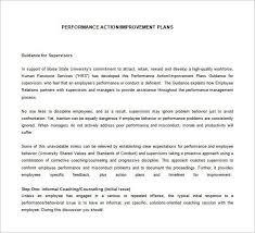sample employee performance improvement plan template 9