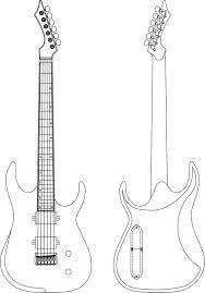 guitar template bass guitar stencil gif 1 200 1 580 pixels kids