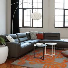 Living Room Furniture Seattle Kasala Modern Affordable 4 Leather Sectional Modern