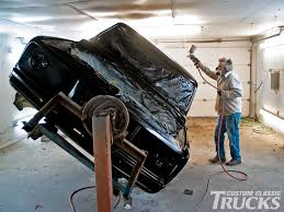 truck car black 1971 project truck gets a paint job rod network