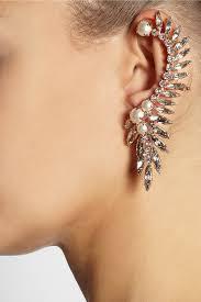gold ear cuffs layer chain style pearl ear cuffs womenitems