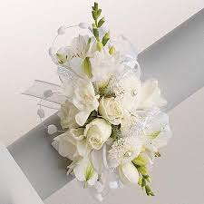white corsages for prom wrist corsage all white durocher florist corsages boutonnieres