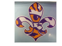 lsu alumni sticker lsu auto accessories purple and gold sports