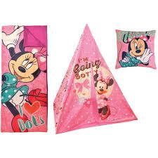 disney minnie mouse teepee play tent slumber bag bonus