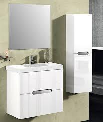 Modern White Vanity Table Abella 24 Inch Modern White Finish Bathroom Vanity Set Solid Oak Wood