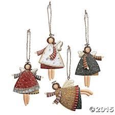 lot of 12 tin tree ornaments