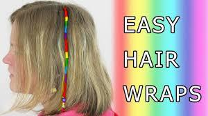 hair wraps diy learn how to make hair wrap wraps braid floss dread thead