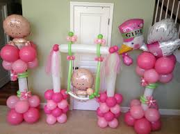 Balloon Decoration For Baby Shower Baby Balloon Decorations Baby Shower Balloons Pinterest