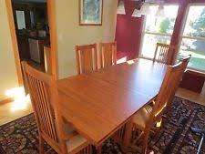 Mission Style Dining Room Tables - oak arts u0026 crafts mission style dining furniture sets ebay