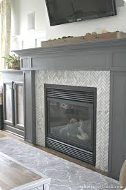 Mosaic Tile Fireplace Surround by Best 20 Herringbone Fireplace Ideas On Pinterest U2014no Signup