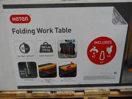 keter portable work table keter folding work table