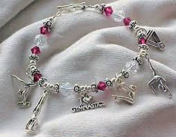 handmade bracelet charms images Gymnastics gymnast theme sterling silver charm bracelet jpg