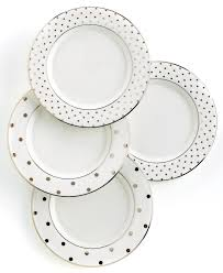 new york wedding registry kate spade new york set of 4 larabee road polka dot tidbit plates
