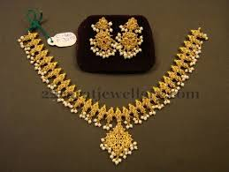 gold small necklace designs images 17 gms uncut simple necklace jewellery designs jpg