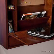 southern enterprises wall mount laptop desk brown mahogany