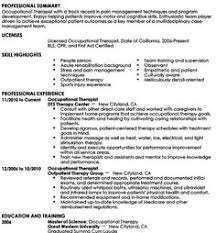 Certified Hand Therapist Resume Sample by Pediatric Occupational Therapy Resume Sample Http