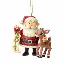 jim shore santa rudolph 2017 ornament annual ornaments direct