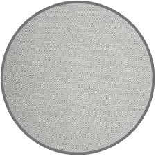 Black Circle Rug Gray Round Flat Woven Area Rugs Rugs The Home Depot