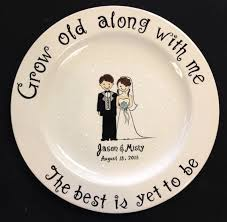 ceramic wedding plates custom name personalized painted ceramic wedding plate or
