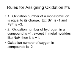 Oxidation Numbers On Periodic Table Metals Non Metals And Oxidation
