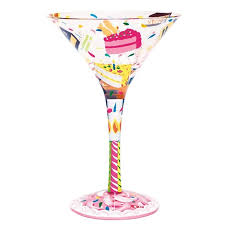 wine glass birthday birthday cake martini glass from flamingo gifts