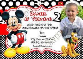 mickey mouse birthday invitations mickey mouse birthday invitation free thank you card
