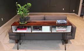 Curved Sofa Table Mid Century Modern Sofa Table The Modern Sofa Table To