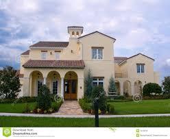 upscale spanish style house royalty free stock image image 1372216
