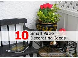 Patio Decor Ideas How To Decorate A Small Patio With Small Patio Decorating With
